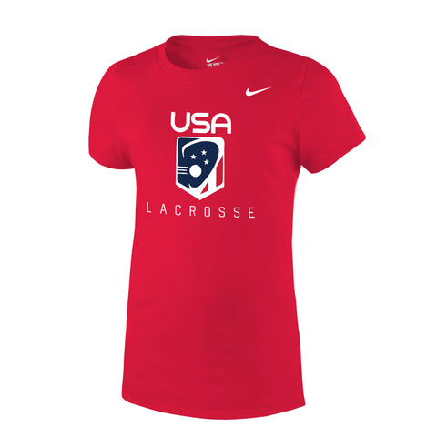 Youth Girl's USA Lacrosse Nike Core Tee