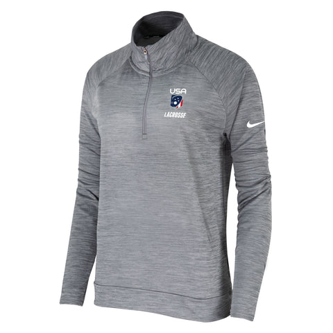 Women's USA Lacrosse Nike Pacer 1/4 Zip Top