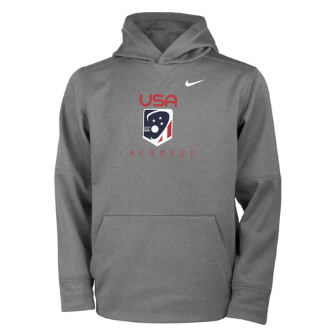 Youth Nike Team USA Therma Pullover Hoodie