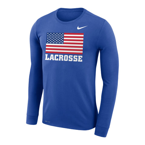 Adult's Team USA Nike Dri-Fit Legend Long Sleeve Flag Tee