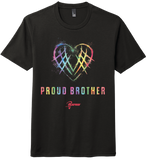 "Adult's US Lacrosse ""Proud Brother"" Tri-Blend Short Sleeve Tee"