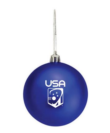USA Holiday Ornament - 3.25""