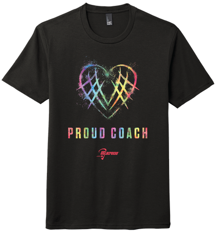 "Adult's US Lacrosse ""Proud Coach"" Tri-Blend Short Sleeve Tee"
