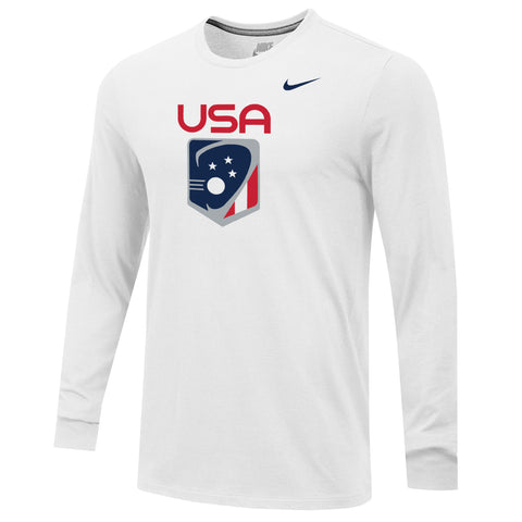 Men's Team USA Nike Core Cotton Long Sleeve Tee
