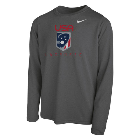 Youth Team USA Dri-FIT Legend 2.0 Long Sleeve Tee