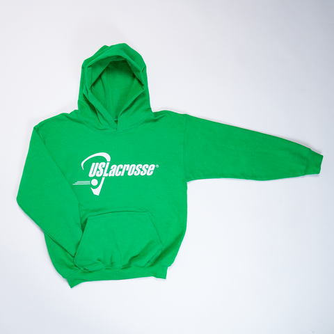 Youth US Lacrosse Green Hoodie