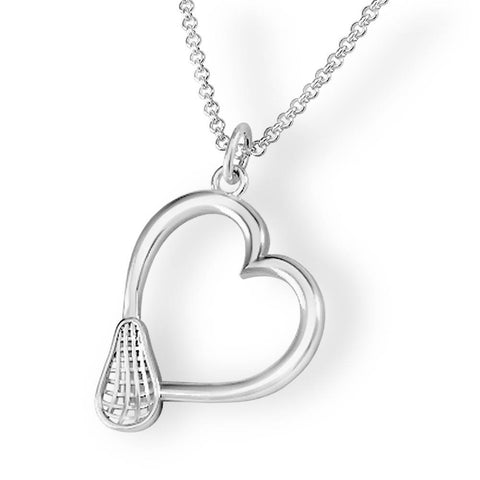 Lacrosse Heart Women's Head Pendant