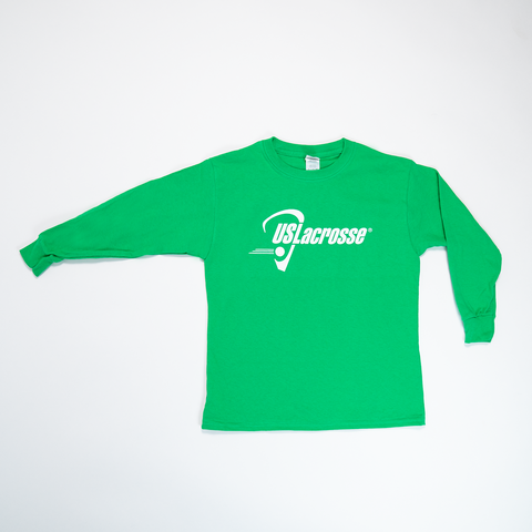 Youth US Lacrosse Green Long Sleeve Shirt