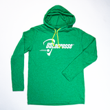 Adults US Lacrosse Heather Green Long Sleeve Hoodie