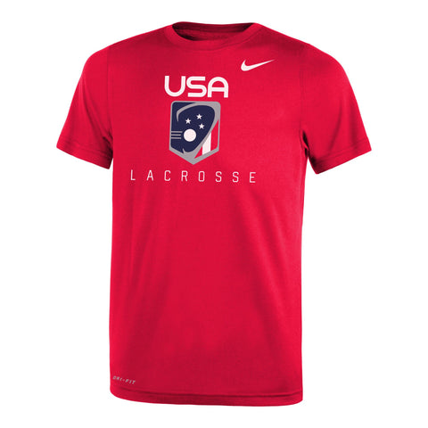 Youth USA Lacrosse Dri-FIT Legend 2.0 Short Sleeve Tee