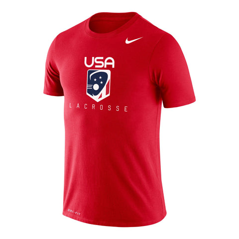 Adult's USA Lacrosse Nike Dri-FIT Short Sleeve