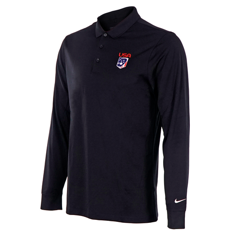Men's Team USA Nike LS Victory Golf Polo