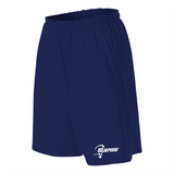 Adults US Lacrosse Training Navy Pocketed Shorts