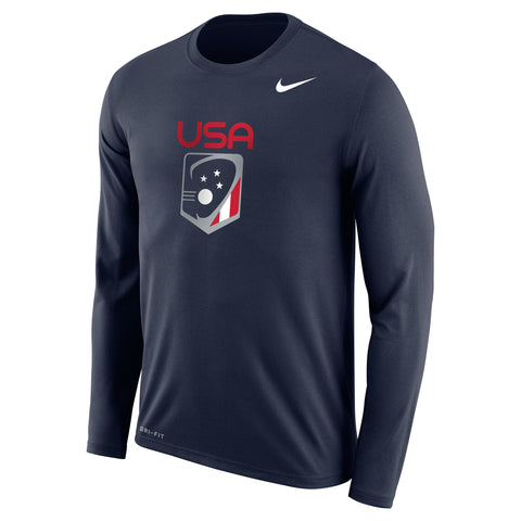 Men's Team USA Nike Legend Dri-Fit LS Crew