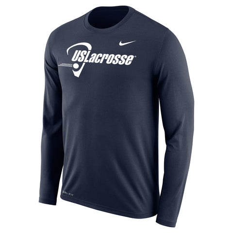 Men's US Lacrosse Nike Dri-Fit Legend 2.0 Long Sleeve Tee