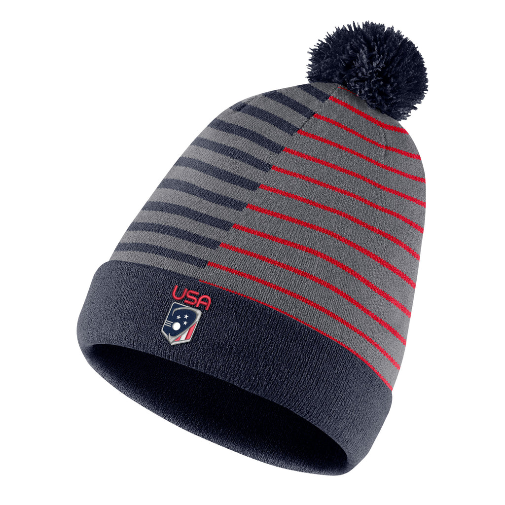 Team USA Nike Reversible Striped Beanie – US Lacrosse Member Store 1f2c90d06344