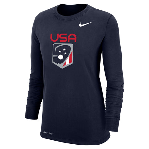 Women's Team USA Nike Dri-Fit Cotton Long Sleeve Tee
