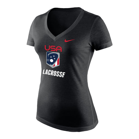 Women's USA Nike Tri-Blend Mid V-neck Tee
