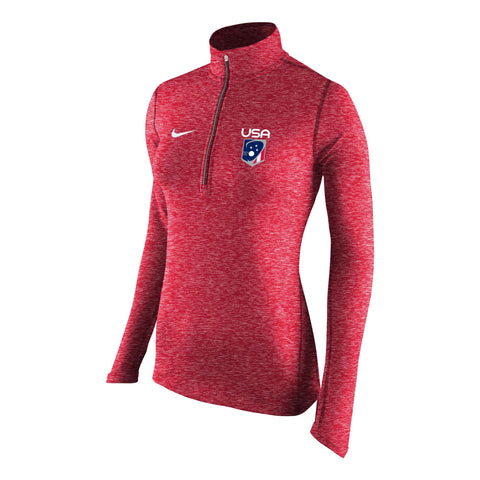 Women's USA Nike Heathered Half Zip Pullover