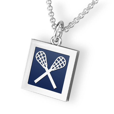 Quadrato Lacrosse Sticks Pendant