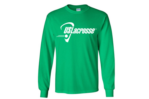 Men's US Lacrosse Green Long Sleeve