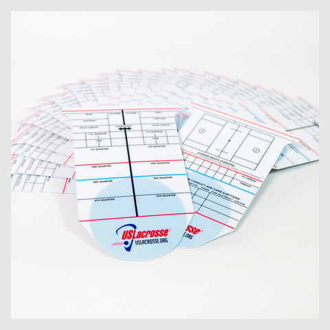 US Lacrosse Referee Reusable Scorecard