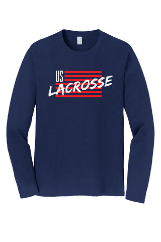Adult's US Lacrosse Long Sleeve Flag Shirt