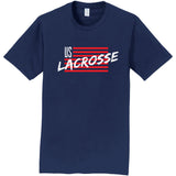 Adult's US Lacrosse Short Sleeve Flag Shirt