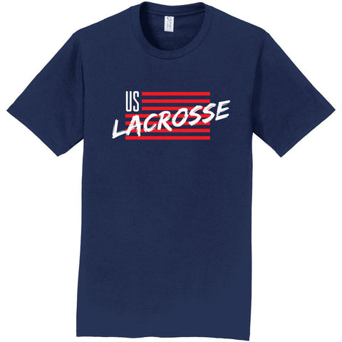 Youth US Lacrosse Short Sleeve Flag Shirt
