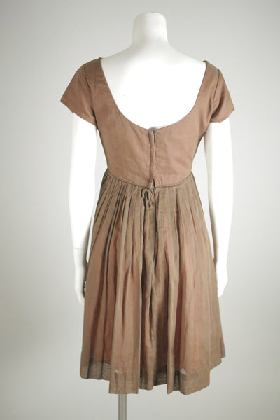 vintage dress brown short wantington