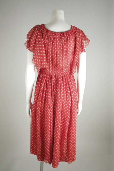 vintage valentino dress red wantington