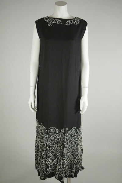 vintage dress black long wantington