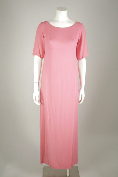vintage dress pink 1960s wantington