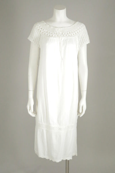 vintage dress white short 1960s wantington