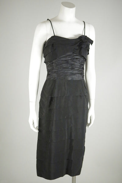 cocktail vintage dress black 1940s wantington