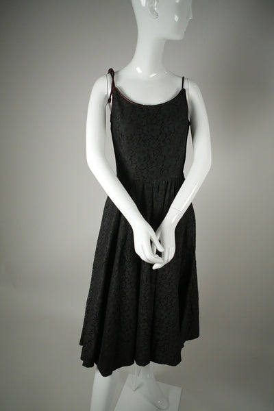 D053- 1950s Black Lace Dress