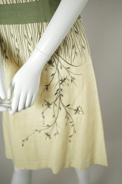 D059- Embroidered Linen Dress