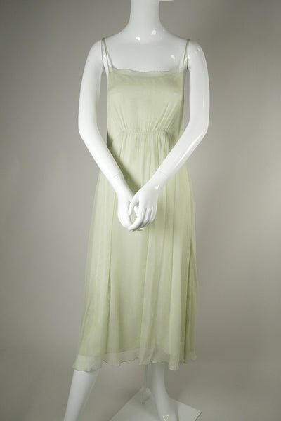 D060- Ethereal Silk Chiffon Dress