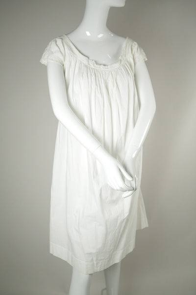 D061- Victorian/ Edwardian Era White Cotton Dress