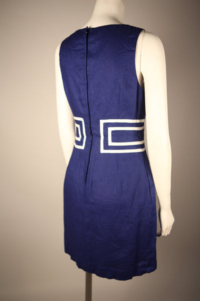 D076 - Contemporary Sapphire Blue Mini Dress