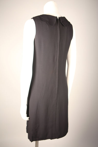 D087 - 1960s Black Shift Cocktail Dress