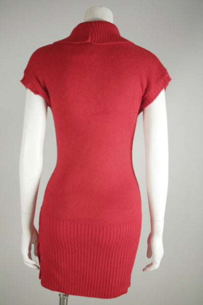 K002- 1980's Red Sweater Dress