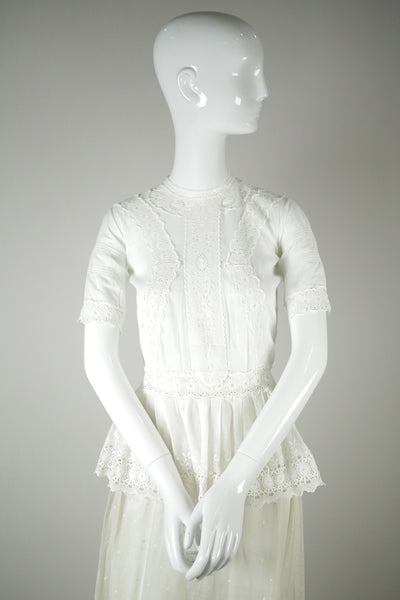 T029- Edwardian Embroidered Cotton Blouse