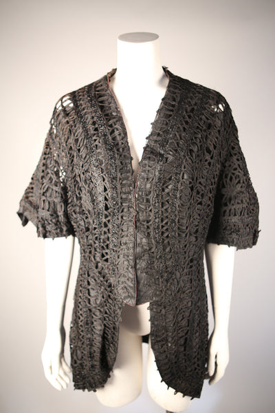 T099 - Victorian Jacket with Intricate Ribbon Embroidery