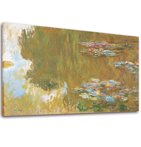 Ready to Hang Framed Claude Monet Water Lilies Canvas Wall Art - Amoy Shop