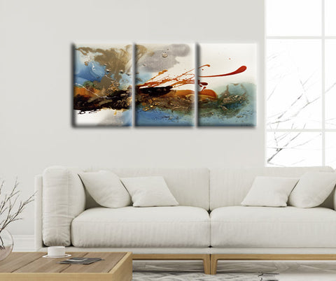 Colorful Abstract Clouds Canvas Wall Art Set of 3 - Amoy Shop