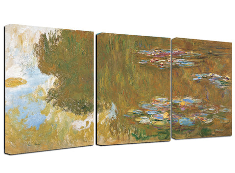 Ready to Hang Claude Monet Water Lilies Canvas Wall Art Framed - Amoy Shop