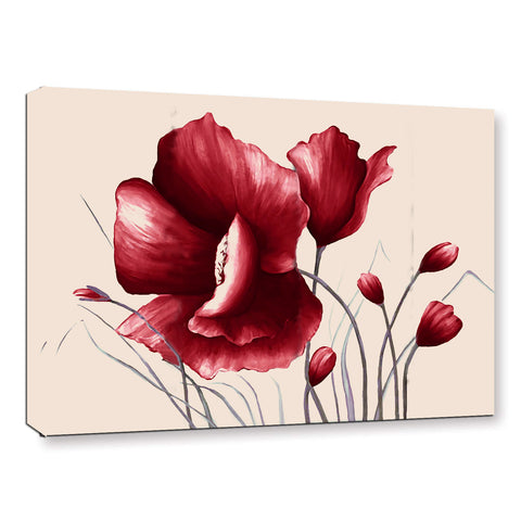 Ready to Hang Framed Red Poppies Flower Canvas Wall Art - Amoy Shop