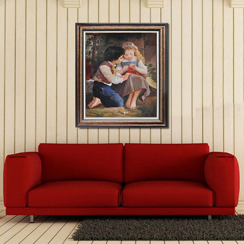 Hand painted A Special Moment  Oil painting by Emile Munier - Amoy Shop