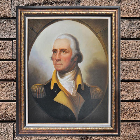 Hand Painted George Washington Oil painting - Amoy Shop